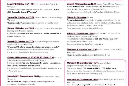 Gli eventi in programma da ottobre a dicembre : Vivere Libere.