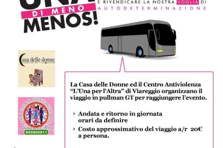 Non una di meno – Manifestazione del 26 novembre 2016 a Roma: la Casa delle donne di Viareggio organizza il viaggio per prendervi parte!